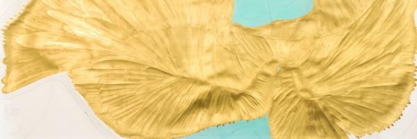 Voigt-JVOIW195-Flügel-Algorithmus-1-Petro-Cavallini-140-x-220-cm-Ink-crayon-gold-leaf-pastel-pencil-on-paper-Copyright-VG-BildJorinde-Voigt