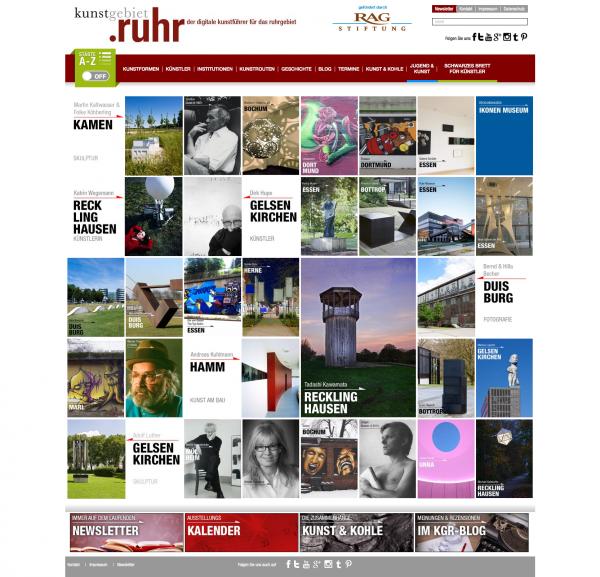 www.kunstgebiet.ruhr - Der digitale Kunstführer für das Ruhrgebiet
