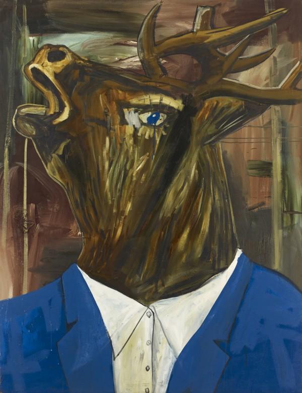 Albert Oehlen (*1954), Auch Einer, 1985, Öl und Lack auf Leinwand, 220 x 186 cm, Foto: Lothar Schnepf © Albert Oehlen