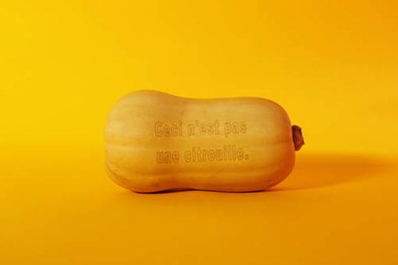Ceci n'est pas une citrouille, Arwed Guderian, gedruckt von Laserfood