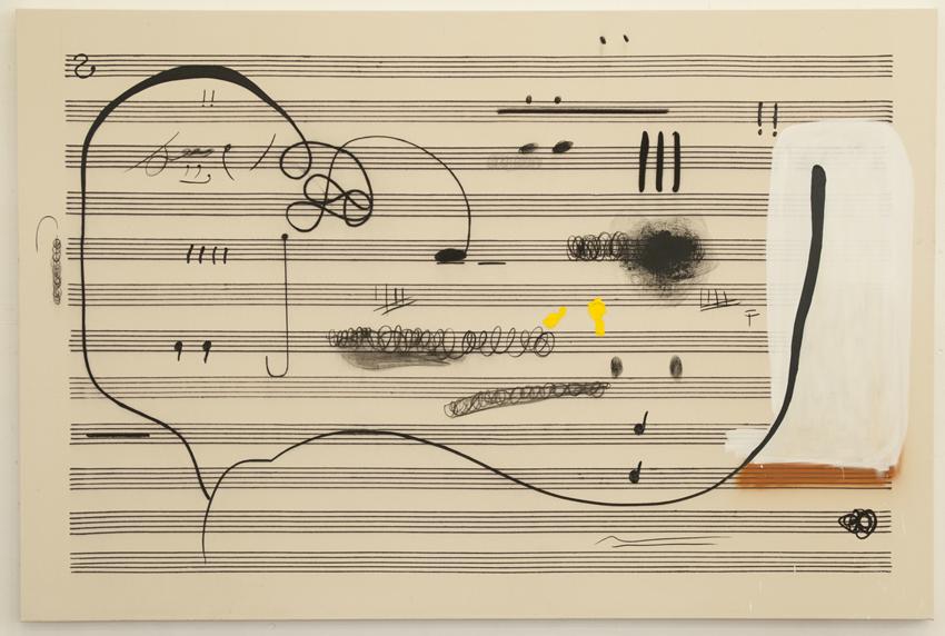 Christian Rosa, Öl und Kohle auf Papier, 2015, Courtesy Galerie Meyer Kainer, Wien.