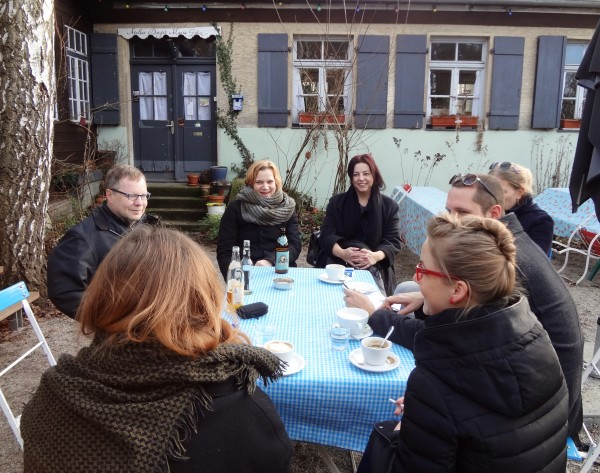 Künstlergespräch im Kulturverein Badstrasse 8 e.V., Foto: Stefan Gerhardt