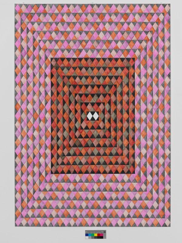Erwartung 5, Aquarell auf Papier, 2015, 150 x 104 cm, Foto: Annette Kradisch