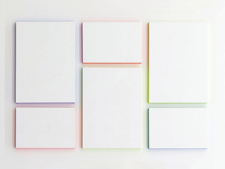 Patric Sandri, Untitled (composition with 6 canvas and 3 colours), 2015 © The Artist Courtesy: Lisabird Contemporary