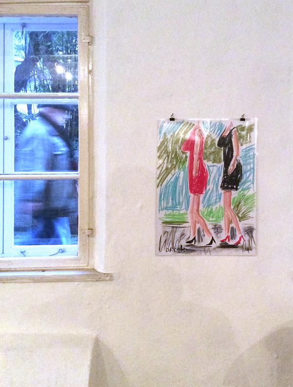 """Ausstellungsansicht """"Dan Reeder: anything goes"""", Galerie Bernsteinzimmer, 2016"""