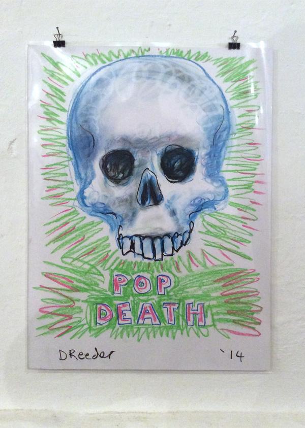 """Dan Reeder: """"Pop Death"""", 2014, Pastell auf Papier, 59,4x42 cm"""