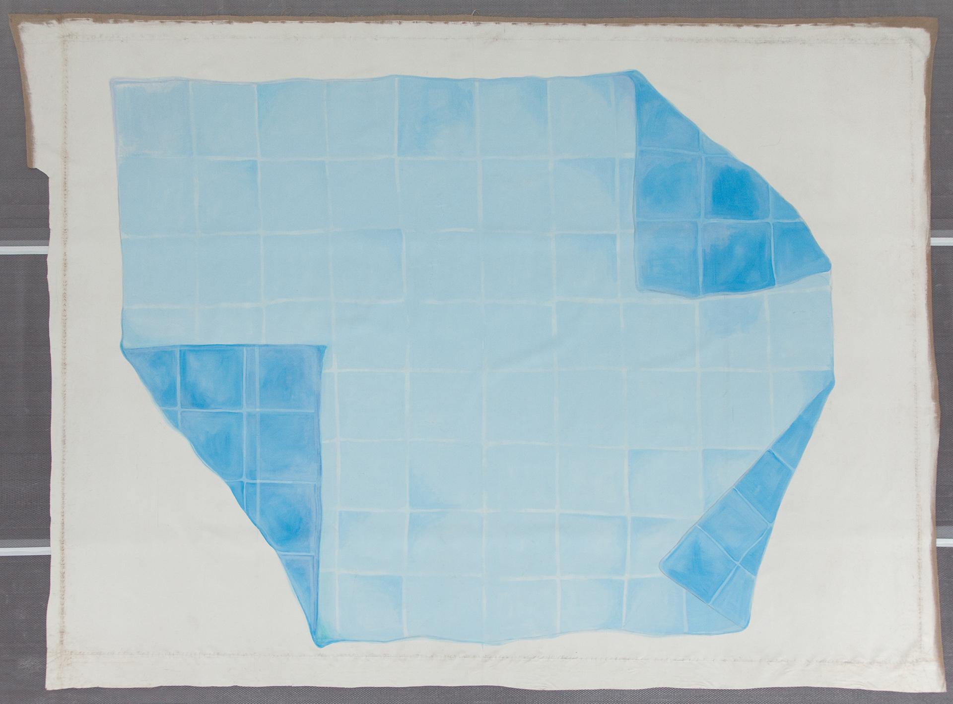 Oswald Oberhuber, Ohne Titel (Tuch I), 1972, Leihgabe aus Privatsammlung © Belvedere, Wien Mischtechnik auf Leinwand 573 x 432 cm.