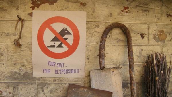 Bild: Škart Aktion, Your Shit – Your Responsibilit', Belgrad, 2000. Foto: Škart