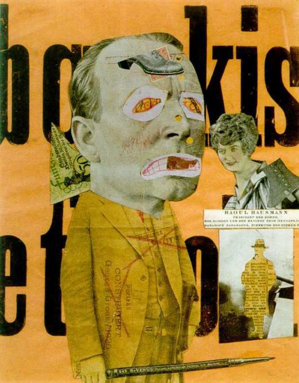 Raoul Hausmann: Der Kunstkritiker. 1919/20, Photomontage, 31,8 x 24,5 cm. © Deutsches Historisches Museum, Berlin.