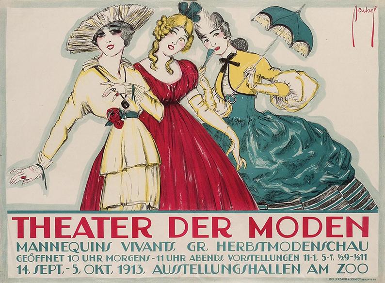 Ernst Deutsch-Dryden, Theater der Moden, Berlin, 1913 © MAK