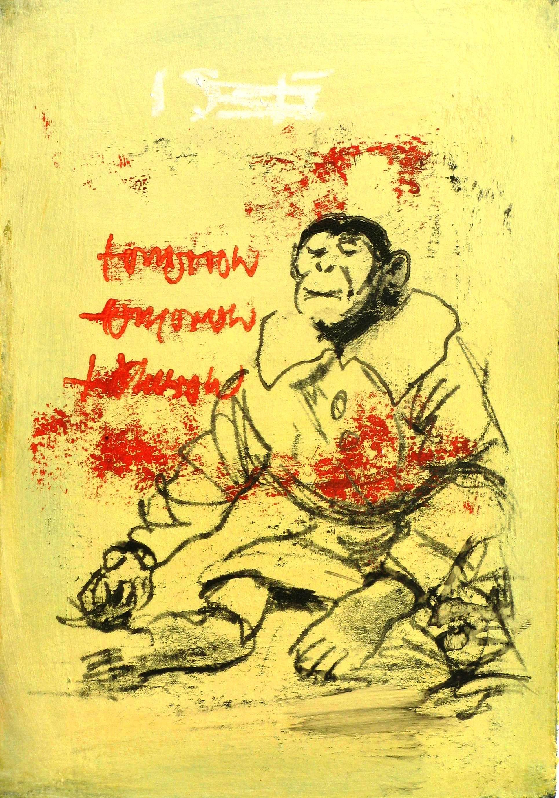 Ransome Stanley: Monkey, Monotypie, 30 x 40 cm