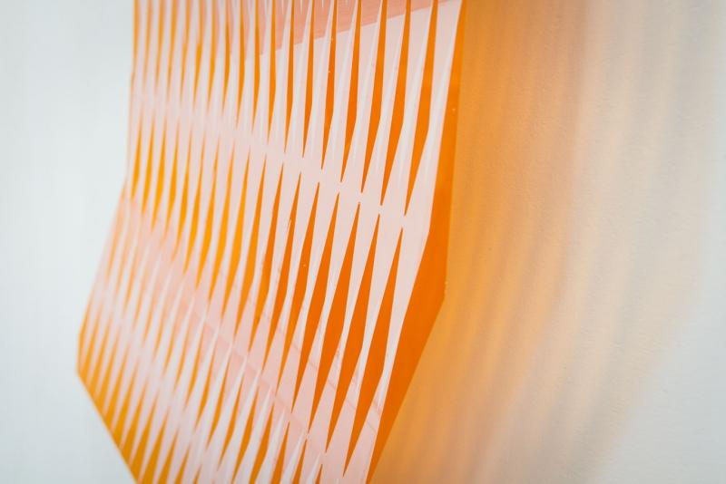 Theresa Eipeldauer, Detail aus der Installation thekingandthedrum, Siebdruck auf Folie, 90 x 120cm. © The artist. Foto: Apollonian Bitzan