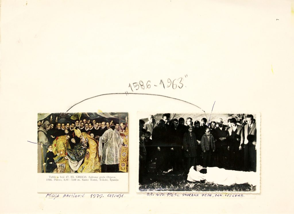 Milija Pavićević, 1586-1963, 1979, Collage