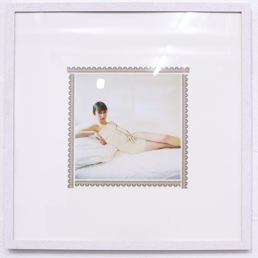 Ruhende Maria, Digitaldruck und Washi Tape, 40 x40 cm, 2016 hq