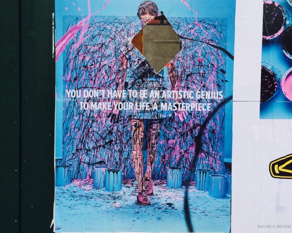 Plakat an Bauzaun und kein Richard Prince. © Caro Jost.