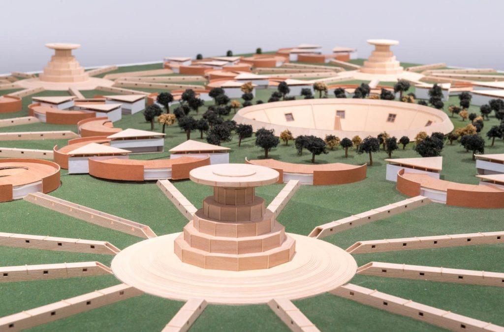 Carlos Garaicoa: Campus oder das Babel des Wissens , Installationsansicht  © CA2M, Móstoles