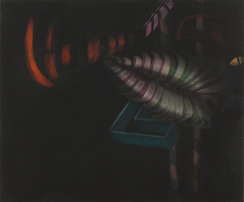 3.Peter Nikolaus Heikenwälder: o.T., 50 x 60 cm, Öl auf Nessel, 2016
