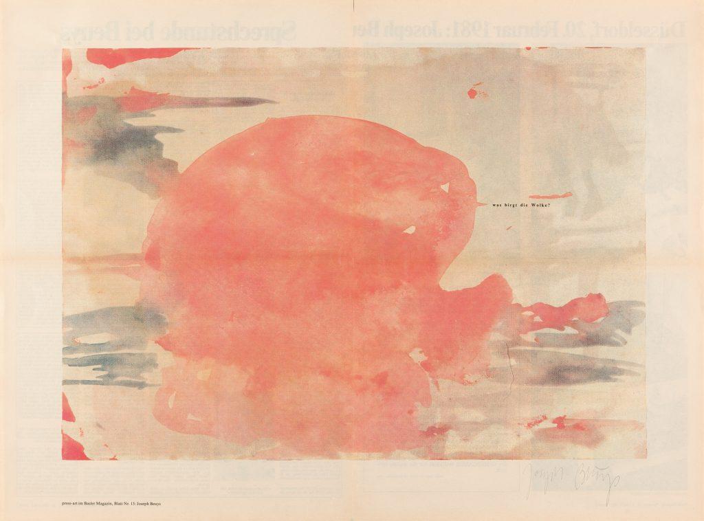 """Joseph Beuys """"was birgt die Wolke?"""", Schätzpreis: € 500, Auktion 270 Los 1029 © Myrzik & Jarisch."""