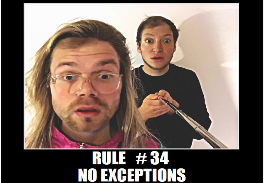 ©Moni Gropper & Jonathan Baumgärtner: Rule #34 - no exceptions