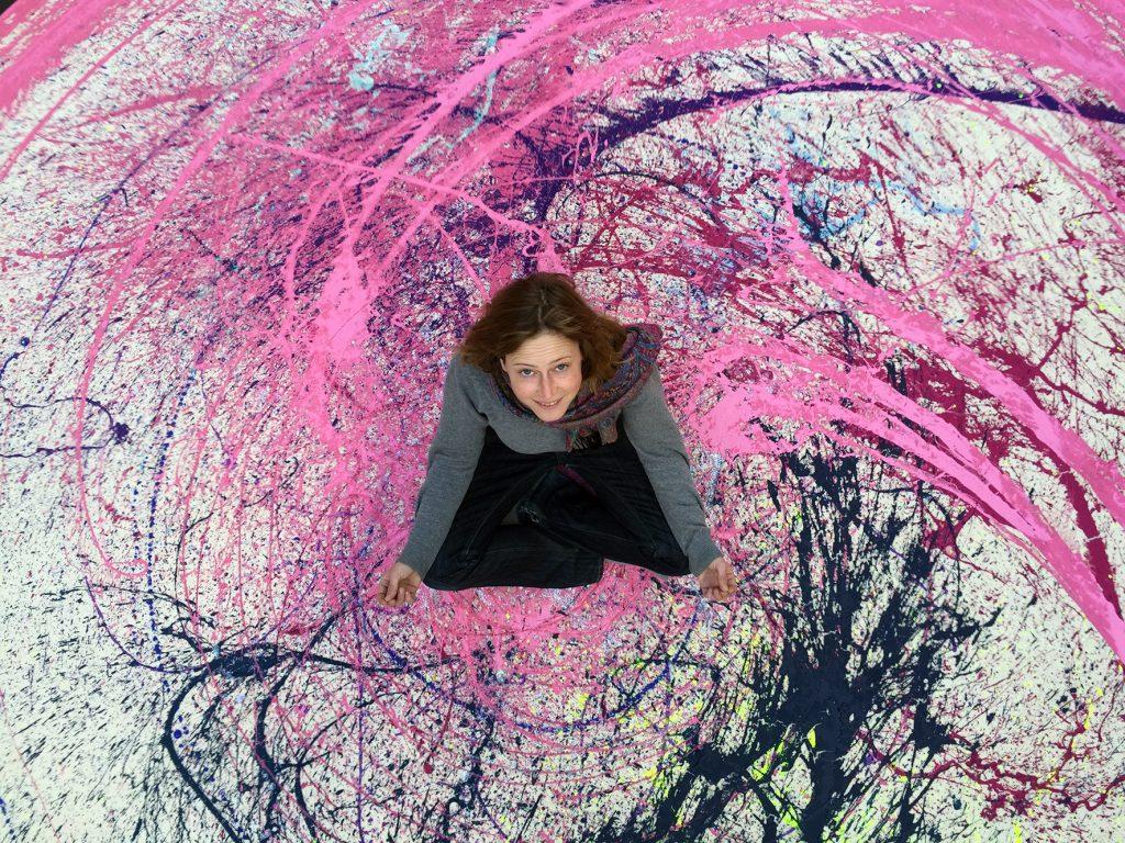 Splash Teppich / Acryl auf Textil / Greta Brix / 2015 / 450 cm