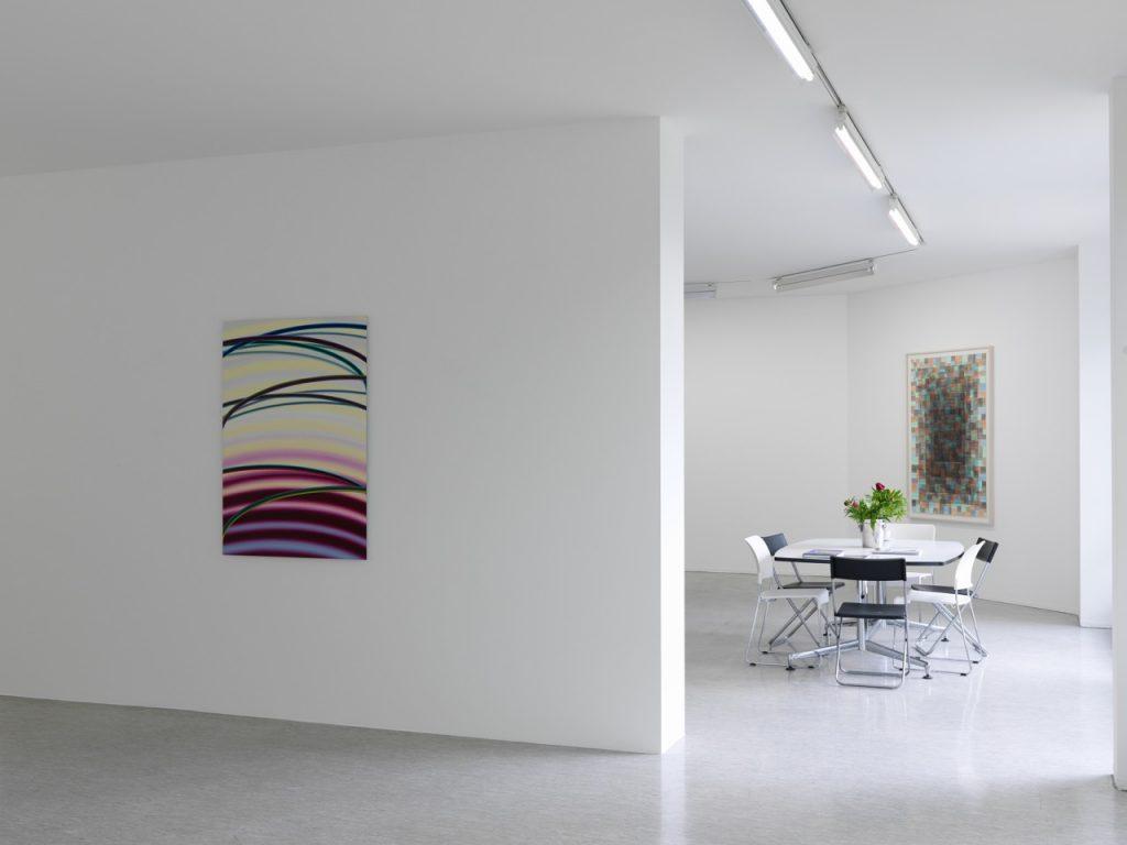 """Andreas Oehlert und Gerhard Mayer """"Erwartung trifft Elliptical Painting"""", © Annette Oechner"""