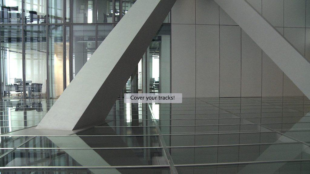 Korpys/Löffler, Transparenz, Kommunikation, Effizienz, Stabilität, 2016, HD-Videostill, © Korpys/Löffler; Meyer Riegger, Berlin/Karlsruhe.