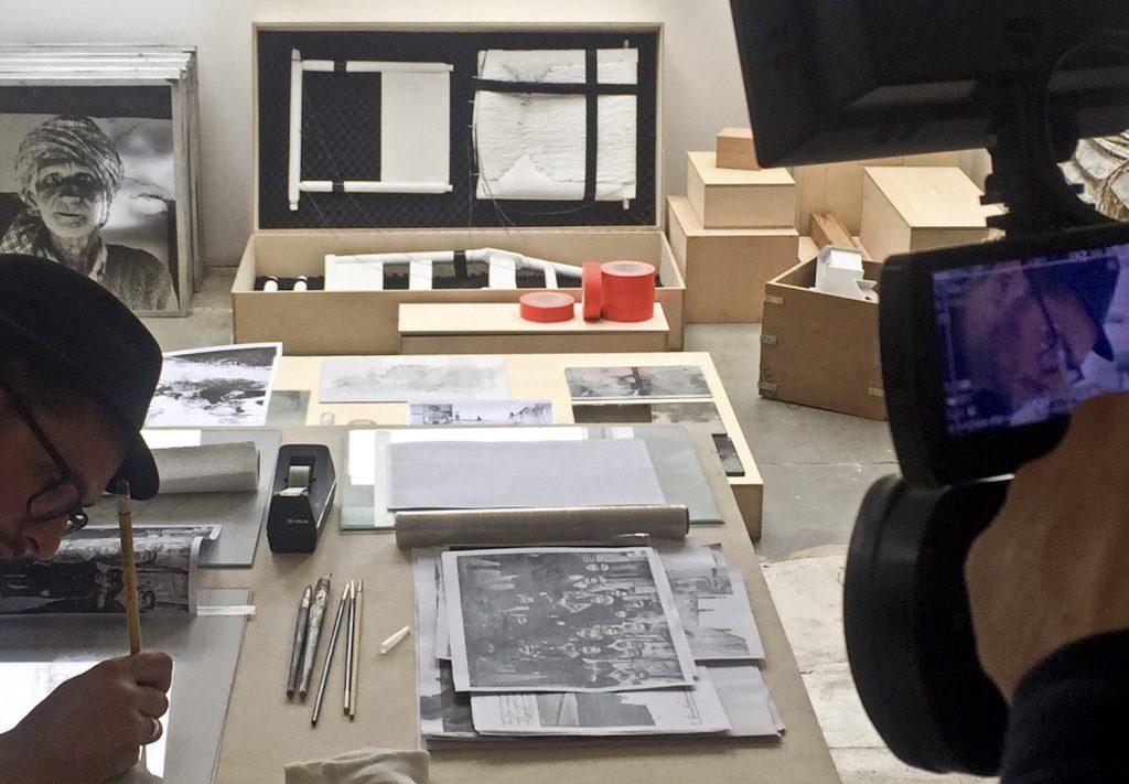 Atelier Arne Lösekann | Arbeitstisch Videokamera