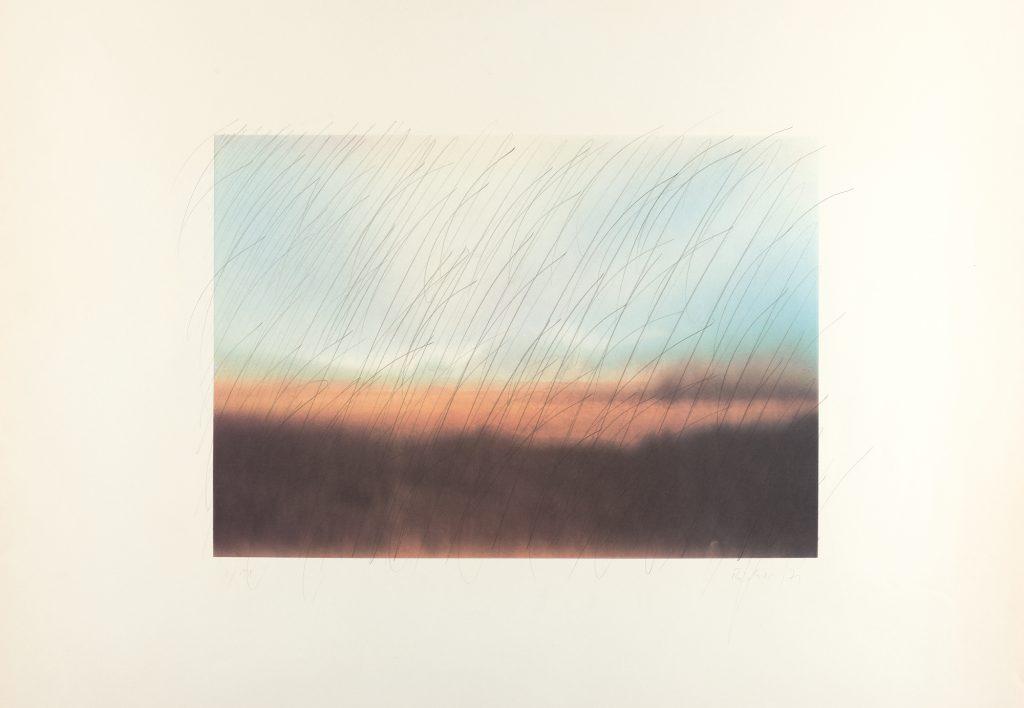 """Gerhard Richter """"Teydelandschaft"""", Schätzpreis: € 5.000/7.000, Auktion 270 Los 835 © Myrzik & Jarisch."""