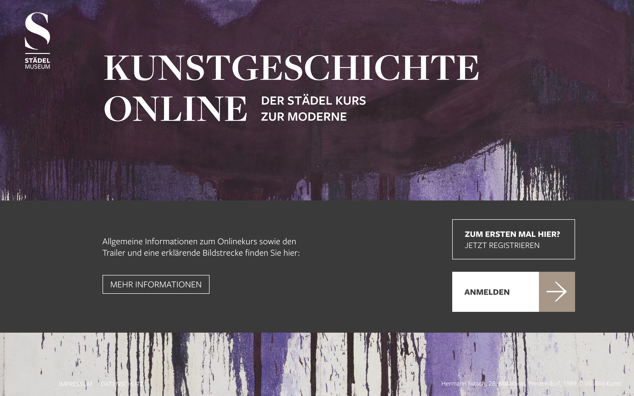 Onlinekurs Login, Foto: Städel Museum