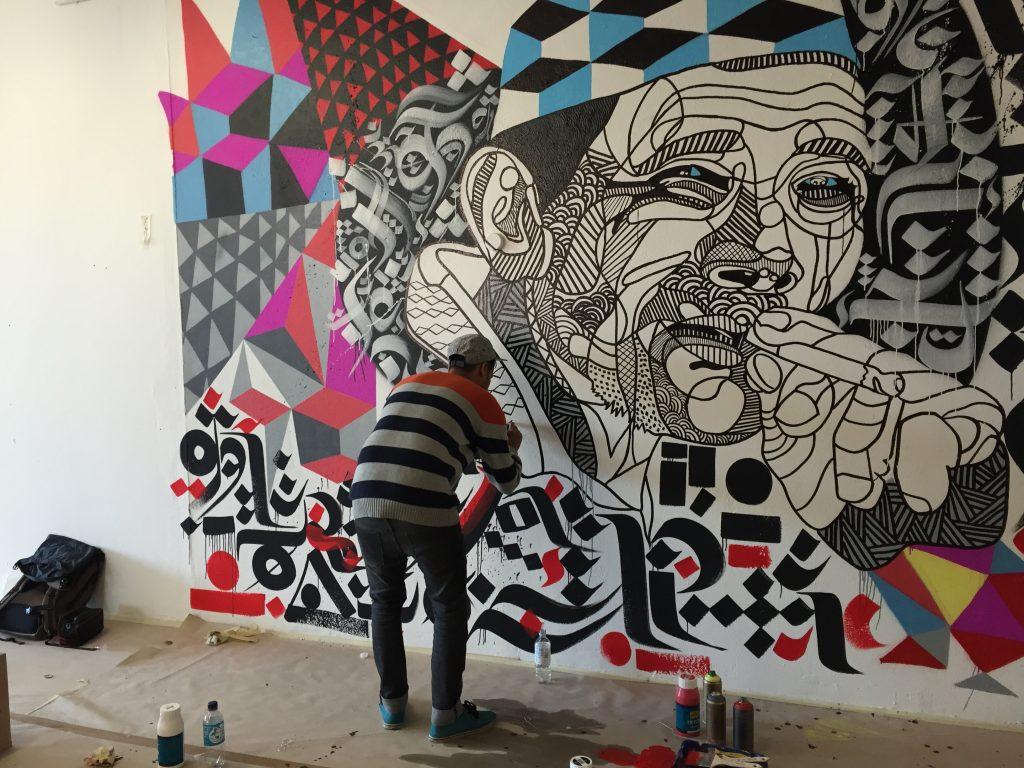 Künstler beim Aufbau der Millerntor Gallery #6, Foto: Martina John