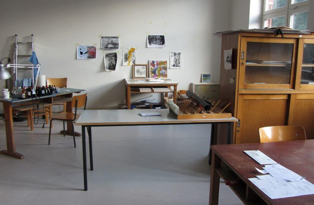Eines der Ateliers im Künstlerhaus Georgswerder