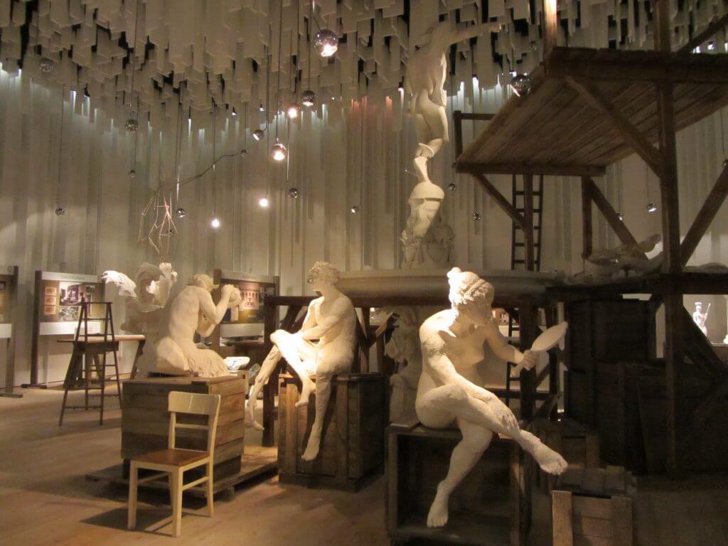 Wasserkunst Kaltehofe, fiktive Bildhauerwerkstatt zur Geschichte der Brunnen in Hamburg, Andreas Heller Architects & Designers