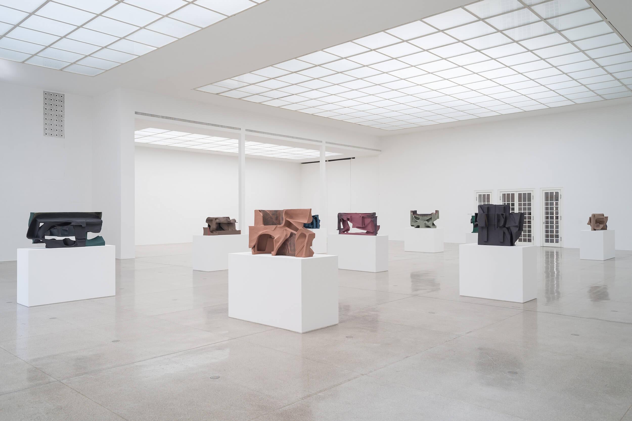 Vincent Fecteau, Ausstellungsansicht, Secession 2016, Foto: Hannes Böck.