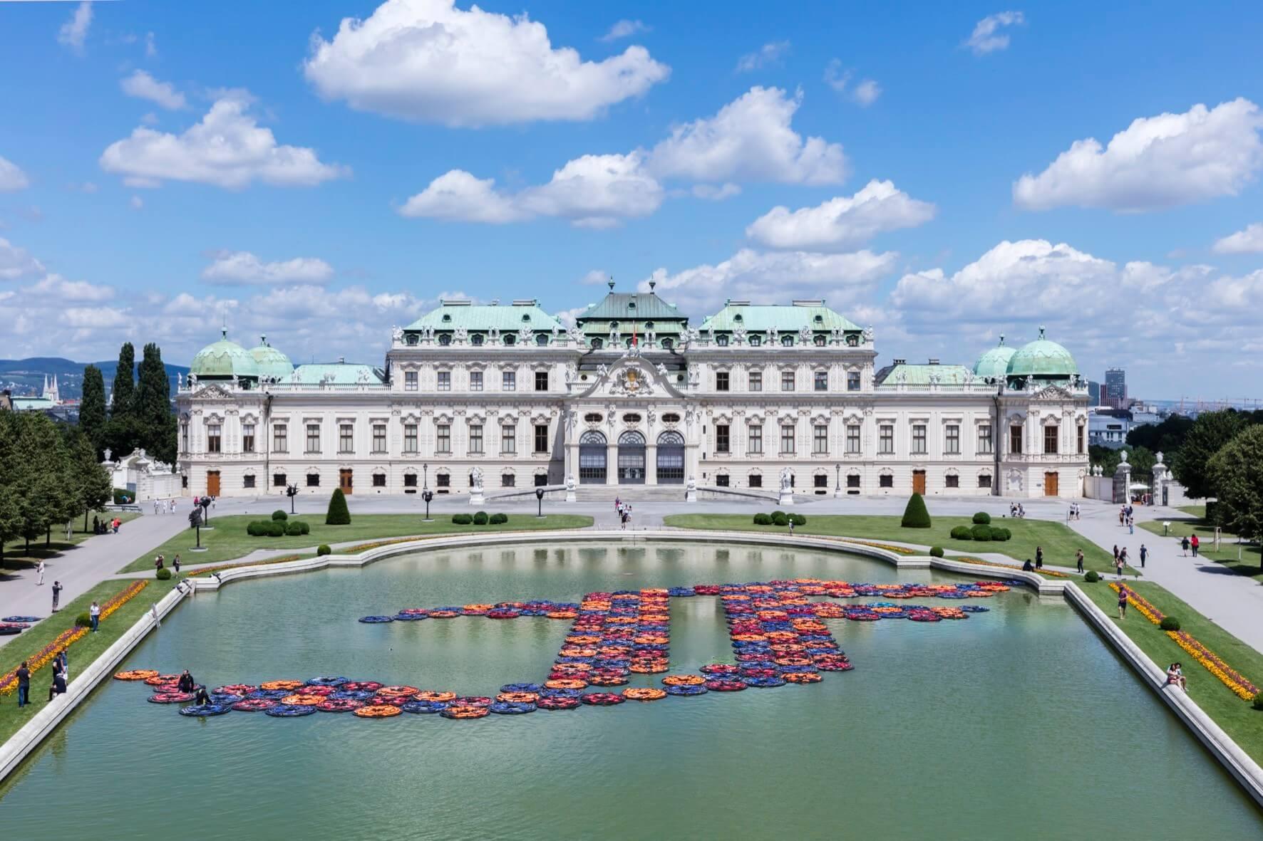 © Ai Weiwei Studio, Foto: © Belvedere, Wien 1005 Schwimmwesten, PVC, Polyethylenschaum 4876,5 x 4700 x 7,5 cm.