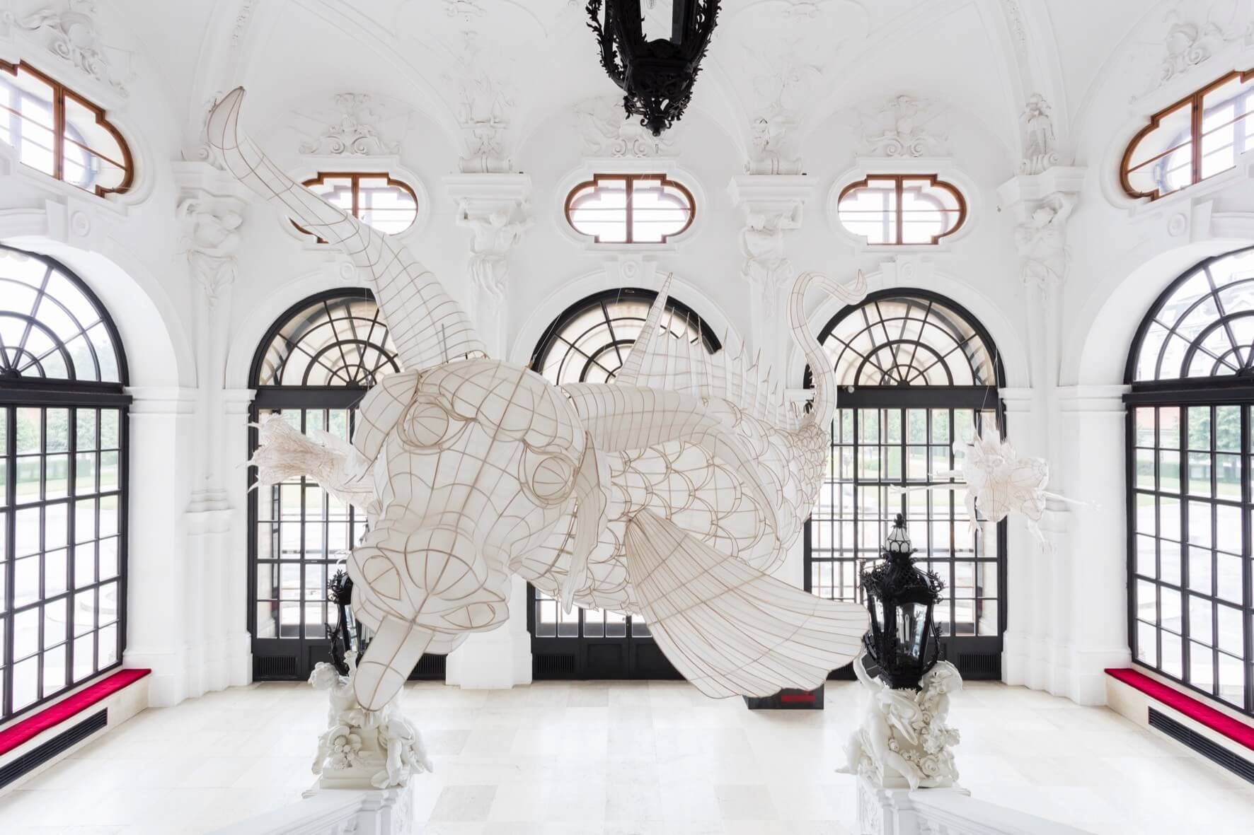 Ai Weiwei, Lu 鯥, 2015 © Belvedere, Wien 470 x 250 x 195 cm Bambus und Seide