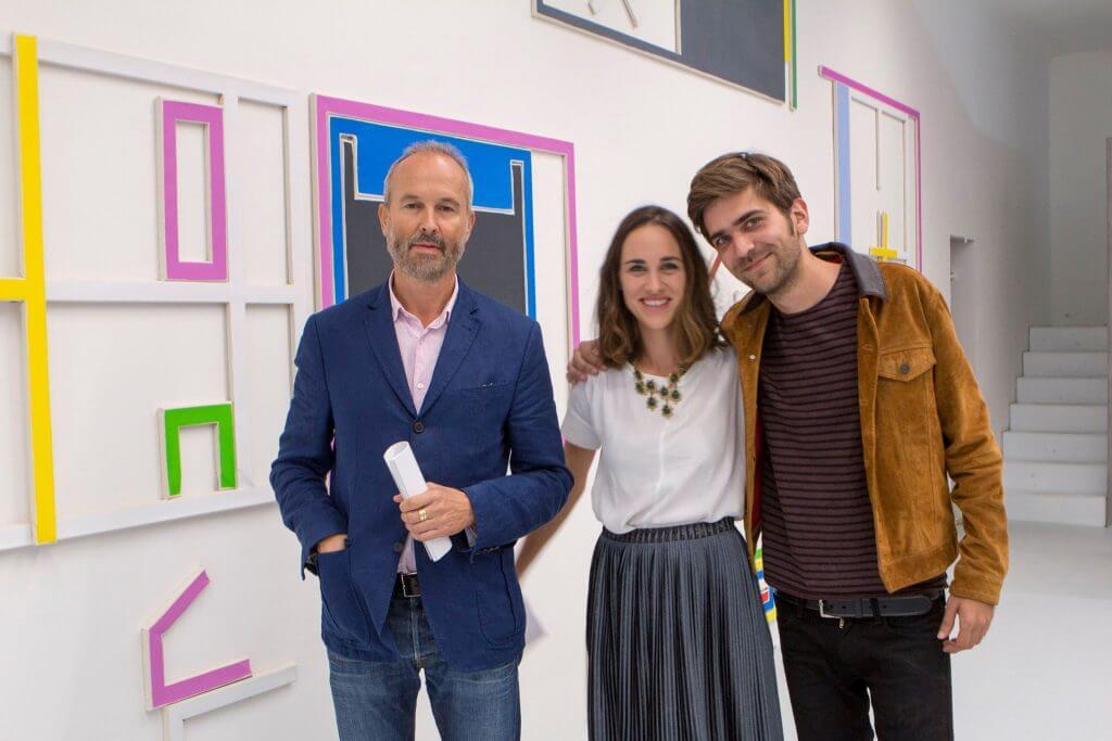 Marco Stanke mit Galeristin Lisa Kandlhofer in Wien