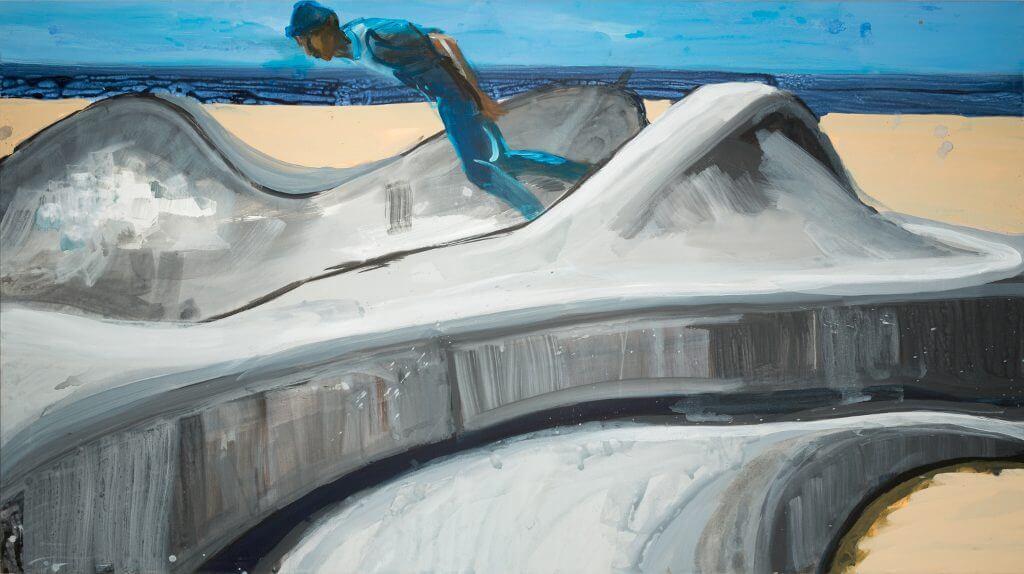 Rainer Fetting, Skaterpark, 2016, Copyright & Courtesy: Der Künstler und Galerie Thomas Fuchs, Stuttgart