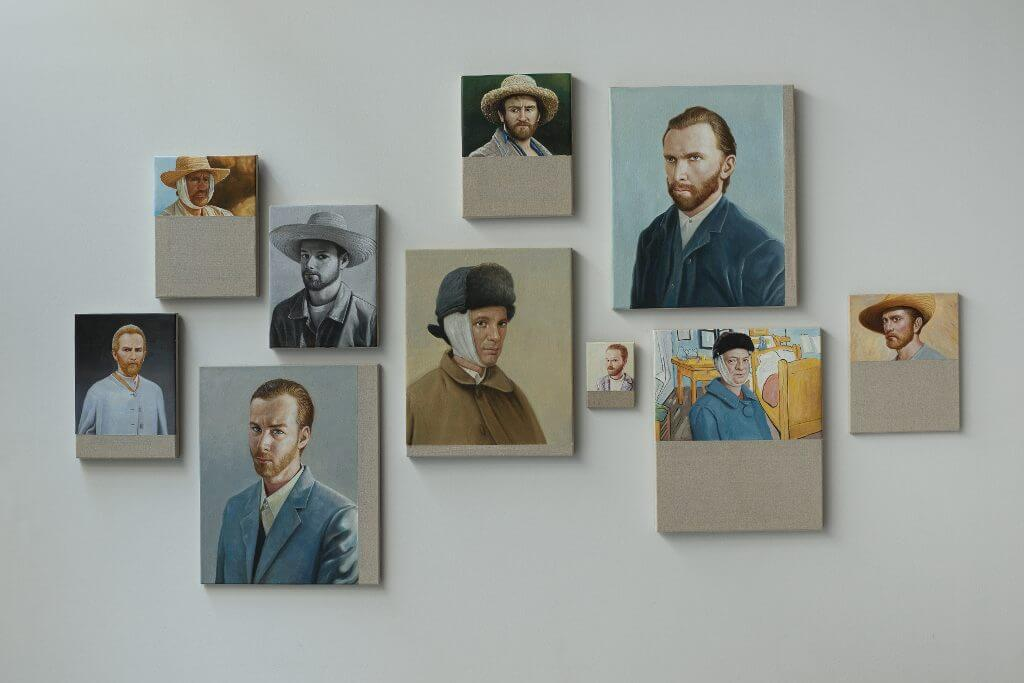 Christian Jankowski, Chinese Whisper – Neue Malerei (Van Gogh I-X), 2015, Courtesy of the artist