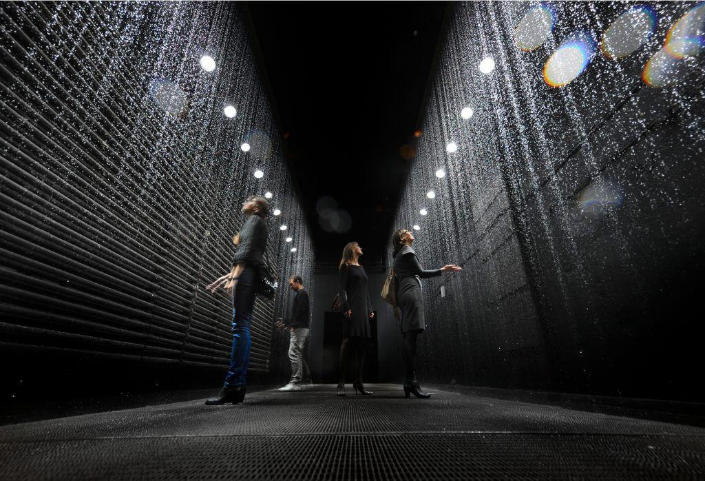 Olafur Eliasson: Der reflektierende Korridor, Entwurf zum Stoppen des freien Falls © Frank Vinken