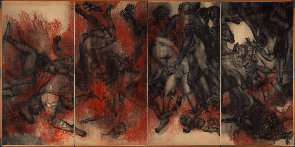 """Iri & Toshi Maruki: Fire (Panel II) from Hiroshima Panels (series of 15 panels), ©Maruki Gallery For The Hiroshima Panels Foundation."""