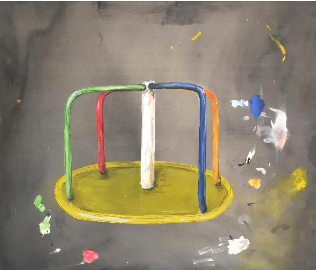 "Anna Ley, ""Kotzmühlchen"", 2016, Acryl auf Leinwand"