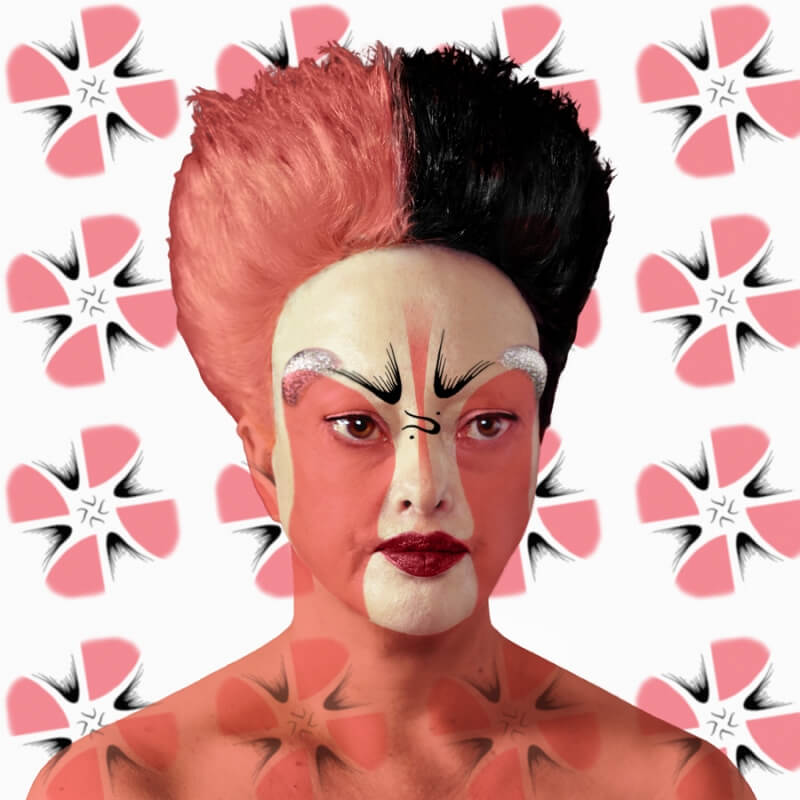 Orlan, Peking Opera Facial Designs, Self Hybrations, 2014.