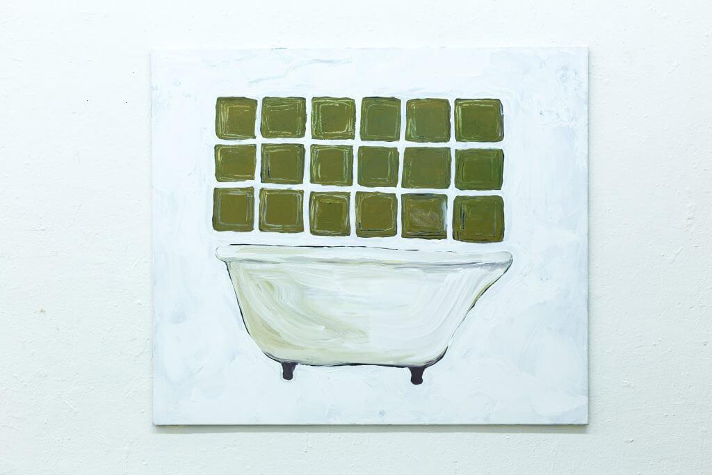 Anna Ley: Bütt, 2016, Acryl auf Leinwand 125x150cm