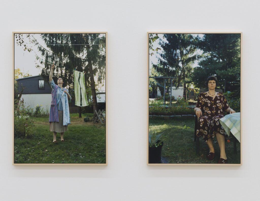 """Daniela Risch: Zwei Fotos aus der 9-teiligen Serie """"Helga"""", 2007, C-Prints, analoge Handabzüge, je 49 x 34 cm, Leihgabe der Künstlerin, Foto: Annette Kradisch"""