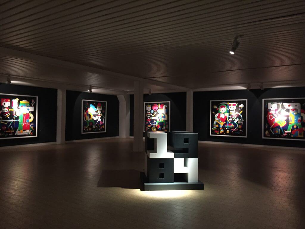 "Doppeldenk: ""Totentanz"", Acryl auf Leinwand, Affenfaust Galerie, Foto: Martina John"