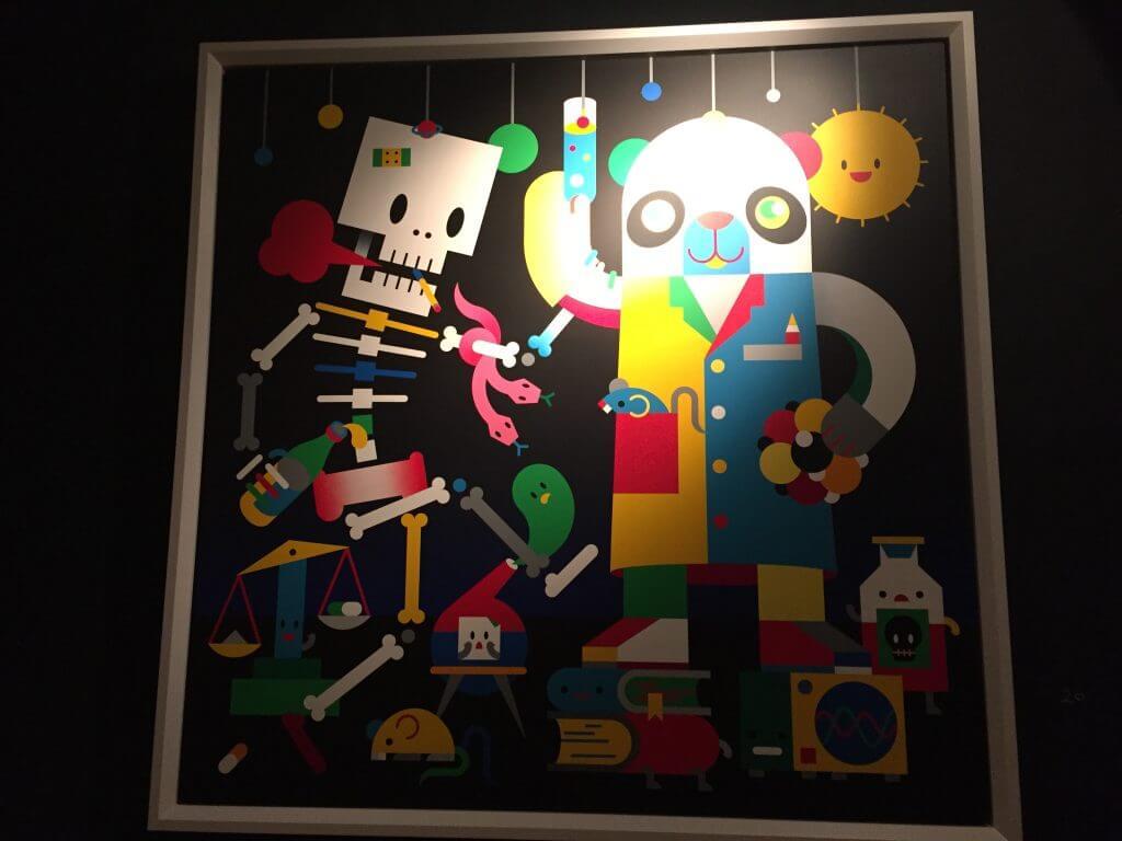 "Doppeldenk: ""Wissenschaftler"", Acryl auf Leinwand, Affenfaust Galerie, Foto: Martina John"