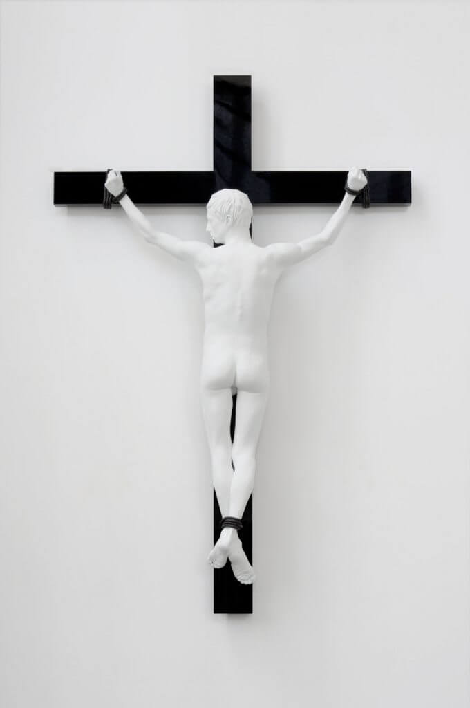 Elmgreen & Dragset, Reversed Crucifix, 2016, Courtesy of Galerie König, Berlin.