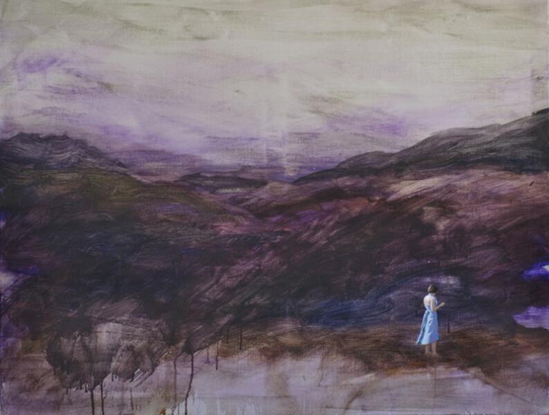 Matthias Lautner, Vila On The Downs 6, 2012, Öl und Acryl auf Leinwand, 80x150cm, Copyright: Matthias Lautner.