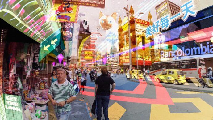 """Keiichi Matsuda: Hyper-Reality (video still)"""