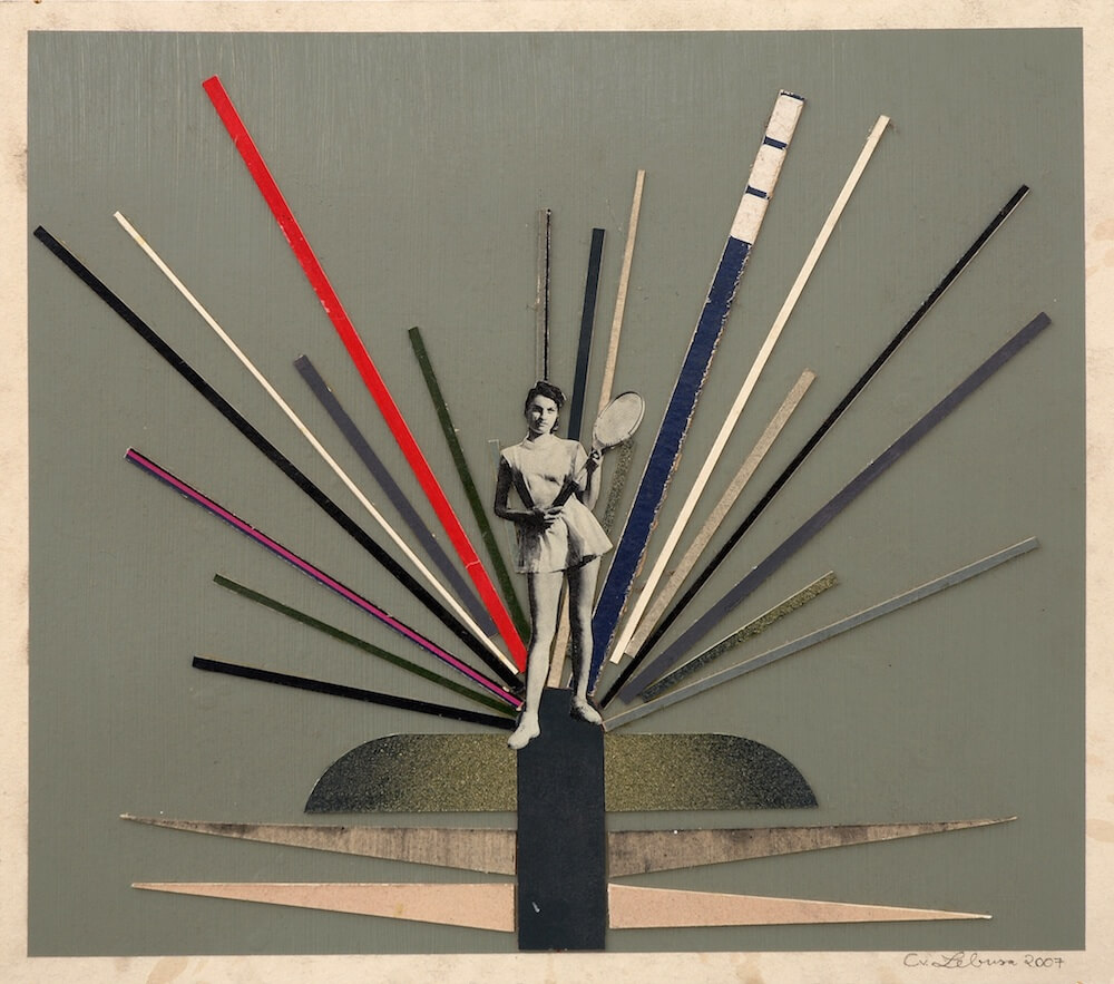 "Corinne von Lebusa, ""Donner"", 2007, Mixed Media Collage, 44 x 50 cm, Courtesy: LEVY Galerie, Hamburg."